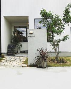 Garden Entrance, Entrance Gates, House Entrance, Modern Exterior, Interior And Exterior, Japanese Modern House, Muji Home, Minimal House Design, Landscape Design Plans
