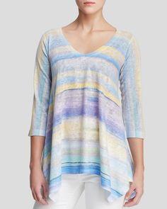 Nally & Millie Pastel Stripe Tunic Top