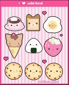 I Love Cute Food by A-Little-Kitty.deviantart.com on @deviantART