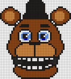FnafWorld Freddy Perler Bead Pattern / Bead Sprite