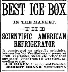 Scientific American Refrigerator. Icebox. Oshkosh Daily Northwestern of Oshkosh, Wisconsin on August 16, 1887 | Victorian Refrigerators (a.k.a. Icebox) | Kristin Holt.com