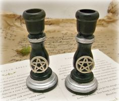 Mini spell candle holder set black with by Spellboundoriginals, $9.99