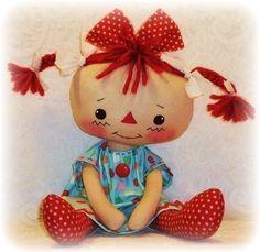 rag doll patterns free downloads | Rag Doll PATTERN, PDF, Instant Download, Sewing, Cloth Doll Pattern ...