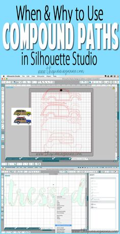 Examples on when you use compound paths in Silhouette Studio