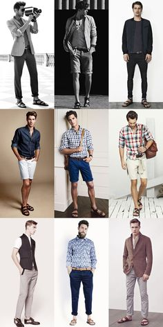 Men's Sandals Outfit Inspiration via fashionbeans.com
