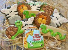 Safari/Critter Party Cookies