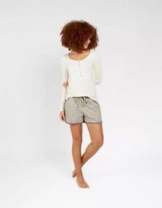 f26bcc2ba2 Fat Face Jersey Stripe Shorts Grey Size UK 8 rrp 22 DH088 JJ 23  fashion