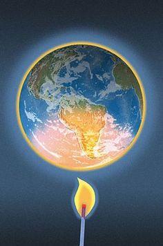 ¿Qué es el calentamiento global? Es un aumento de la temperatura media de la superficie terrestre, considerado como un síntoma y una consecuencia del cambio climático. Planet Love, Our Planet, Save The Planet, Earth Science, Science Nature, Hanging Flower Pots, Deep Art, Sustainable Tourism, World Globes