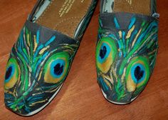 toms. peacock feathers. $45. shoe fetish