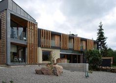 Timber and zinc cladding