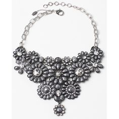 Amrita Singh Amrita Singh Crystal & Resin Bib Necklace ($30) ❤ liked on Polyvore featuring jewelry, necklaces, silver, amrita singh jewelry, resin jewelry, crystal jewellery, resin bib necklace and resin necklace
