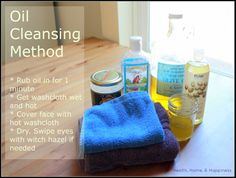 Overview and directions for the oil cleansing method. You dont need everything here- just olive or coconut oil and water works for most people too.