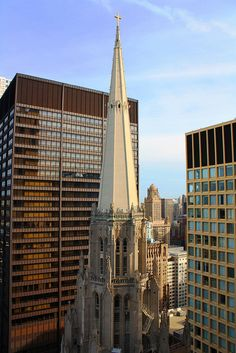 Chicago Temple and Daley Center from the sky (Chicago Pin of the Day, 2/28/2016).