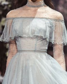 Once Upon a Dream Paolo Sebastian 2018 S/S Couture - About Wedding Couture Fashion, Runway Fashion, High Fashion, 80s Fashion, Blue Fashion, Daily Fashion, Street Fashion, Vintage Fashion, Pretty Dresses