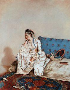 Jean-Etienne Liotard: Lady in Oriental Dress (18th c.)