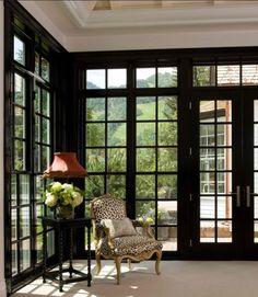 Sun room French doors