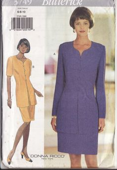 Ladies Sewing Pattern Butterick 3749 Misses'  Easy by retrochick66, $6.50