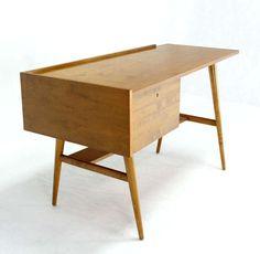 Edmund Spence; Bleached Maple Desk, 1960s.
