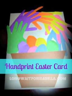 ..something very nice for mom, dad, the grandparents, whomever! :-) Preschool Easter Card - handmade