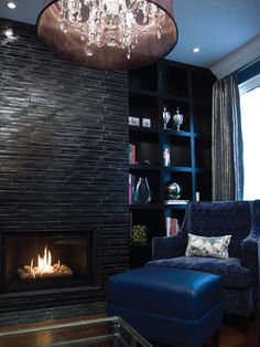 Spaces Mosaic Tile Fireplace Built Ins Design, Pictures, Remodel, Decor and Ideas - page 9