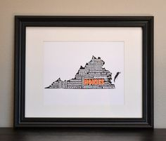 More recent print purchases...VIRGINIA TECH HOKIES State Collage Print via etsy