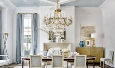 We talked to celebrated interior designer Suzanne Kasler about her love for white walls and why this paint color makes an appearance in nearly all of her design projects. Farrow And Ball Kitchen, Dining Chairs, Dining Table, Dining Rooms, Room Chairs, Dining Area, Interior Design Portfolios, Colonial Style Homes, Kitchen Cabinet Colors