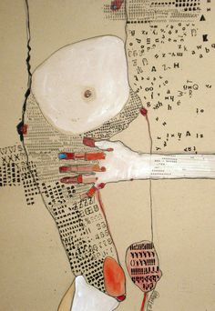 "Saatchi Online Artist: Kasia Gawron; Paper, 2012, Mixed Media ""BODY 1"""