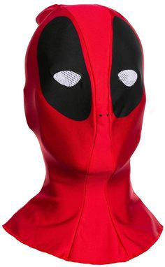 2f98ef55e17 Marvel Deadpool Costume Fabric Overhead Mask Adult One Size