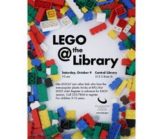 lego @ the library poster