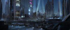Night Lights , Wadim Kashin on ArtStation at https://www.artstation.com/artwork/AKXKW