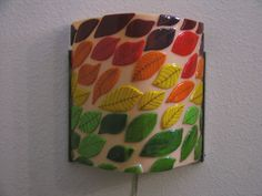 Wall sconce Leaves by GamesOfGlass on Etsy