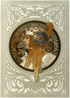 Alphonse Mucha Art Nouveau French Illustrations and Paintings — Stock Kangaroo Mucha Art Nouveau, Alphonse Mucha Art, Art Nouveau Poster, Art And Illustration, Illustrations Posters, Eslava, Art Français, Jugendstil Design, Art Deco