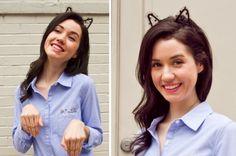 Aprenda a fazer uma tiara de gatinho para o Dia das Crianças que está chegando! As meninas vão adorar! - Veja mais em: http://vilamulher.com.br/artesanato/passo-a-passo/tiara-de-gatinho-passo-a-passo-17-1-7886495-464.html?pinterest-destaque