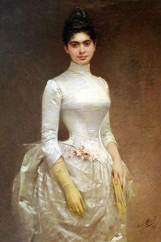 .:. 1887 Aimé Morot - Portrait de Mlle Aline Léon