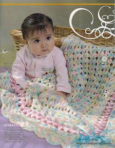 Mantas em Crochet para bebê 2
