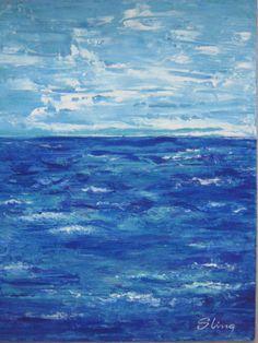 ATLANTICO - Susana King 2014 - Acrílico sobre fibracel - Vendido - Facebook Susana King Galería de Arte