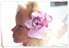 Rockabilly Hair flower//Lovely Lilac Cymbidium Orchid //Pin up//Burlesque