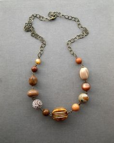 satchel necklace  vintage lucite and brass by urbanlegend on Etsy, $65.00