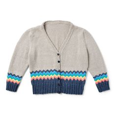 Yarnspirations is the spot to find countless free intermediate knit patterns, including the Caron x Pantone Knit Chevron Trim Cardigan, Version 1 - XS/S. Browse our large free collection of patterns & get crafting today! Free Knitting Patterns For Women, Knit Patterns, Baby Patterns, Cardigan Pattern, Knitting Accessories, Cardigans For Women, Baby Knitting, Chevron, Vest