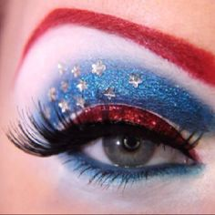 captain america inspired.. i might just have to do this for the 4th of july :)