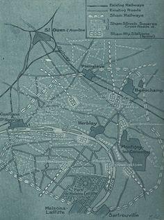False Paris Outside Paris—a 'City' Created to be Bombed. 1920