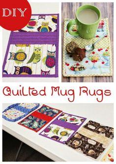 DIY Quilted Mug Rugs #diy #sewing