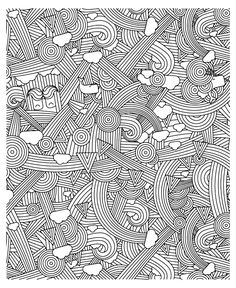 Free coloring page «coloring-adult-zen-anti-stress-to-print-rainbows».