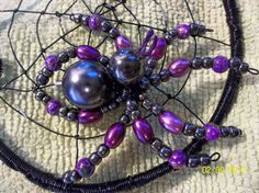 Closeup of beaded spider