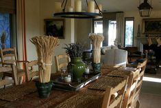 images of country dining rooms | +delores+arabian+wine+country+home+dining+room+rustic+farm+country ...