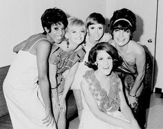 Teresa Graves, Goldie Hawn, Judy Carne, Ruth Buzzi, Jo Anne Worley during the making of