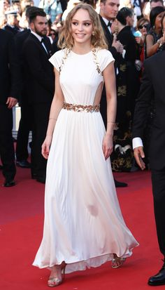 LilyRose Depp in Chanel attends the 'Ismael's Ghosts ' screening and Opening Gala during the 70th annual Cannes Film Festival at Palais des Festivals on May 17...
