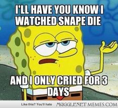 Honestly wasn't that bad for me when Snape died