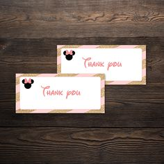 Minnie Mouse Party Thank You Tags Minnie Mouse Party, Mouse Parties, Cupcake Wrappers, Party In A Box, Thank You Tags, Party Printables, Invitations, Save The Date Invitations, Shower Invitation