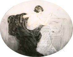 Louis Icart - Have a smoke (1924)